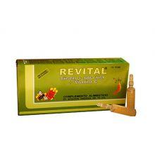 Revital Ginseng Jalea Real Vitamina C 20 Ampollas 10 cc