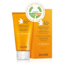 Babé Fotoprotector Facial Color SPF 50+ 50ml, REGALO Stick Labial