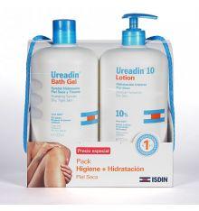ISDIN Ureadin Syndet Gel Hidratante y Loción Hidratacion Duplo 1000 ml + 1000 ml